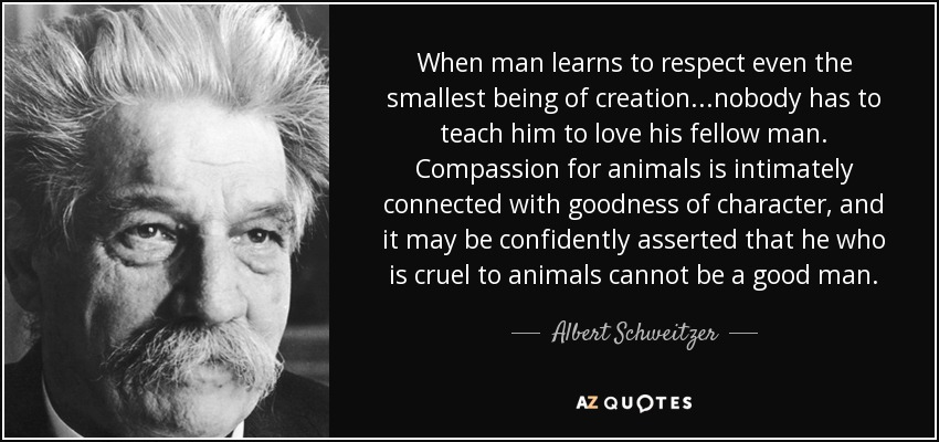 Compassion for Animals is Connected to Goodness in Character