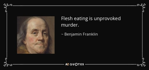 Benjamin Franklin Quote about vegetarianism