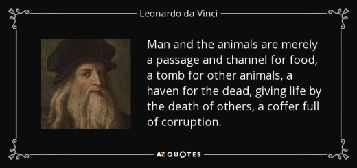 Leonardo da Vinci, A 15th Century Animal Rights Activist and Vegetarian