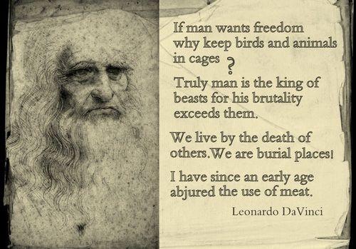Leonardo da Vinci animal rights