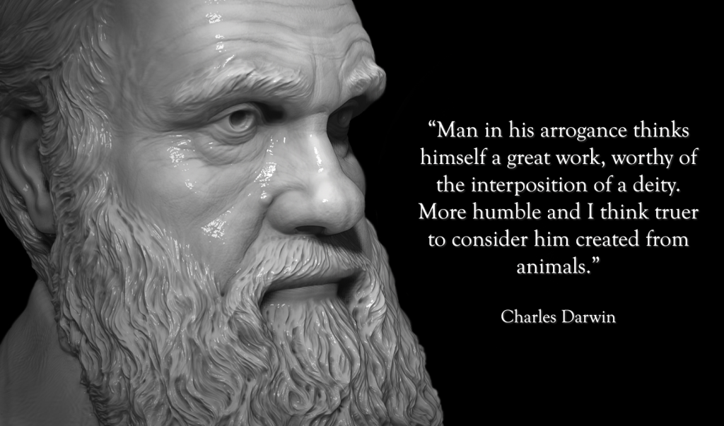 Charles Darwin - The lower animals, like man, feel pleasure and pain, happiness and misery